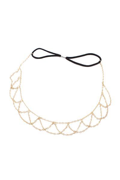 New Lovely Metallic Sweet Lady Hollow Rose Flower Elastic Hair Band Headband - Gold (Gloden Flower)