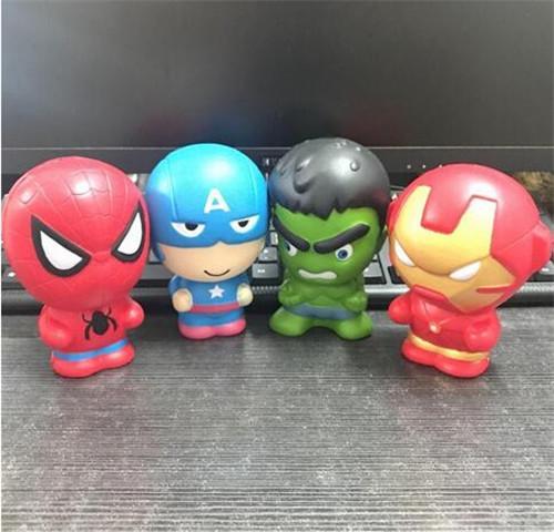 Compre Squishy Dos Desenhos Animados Vingadores Marvel Heros Brinquedos Aperto Lento Rising Homem De Ferro Spiderman Capitão América Squishy Brinquedo