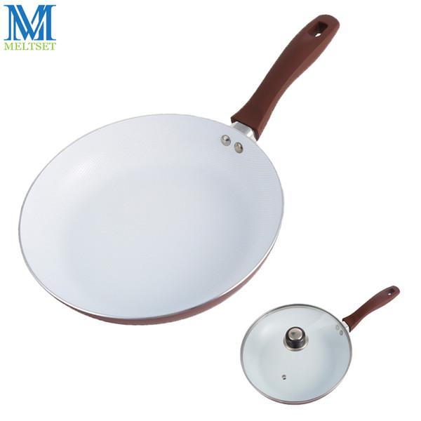 Frigideira antiaderente 26cm com revestimento cerâmico e indução Frigideira frigideira antiaderente cerâmica com / sem tampa de vidro
