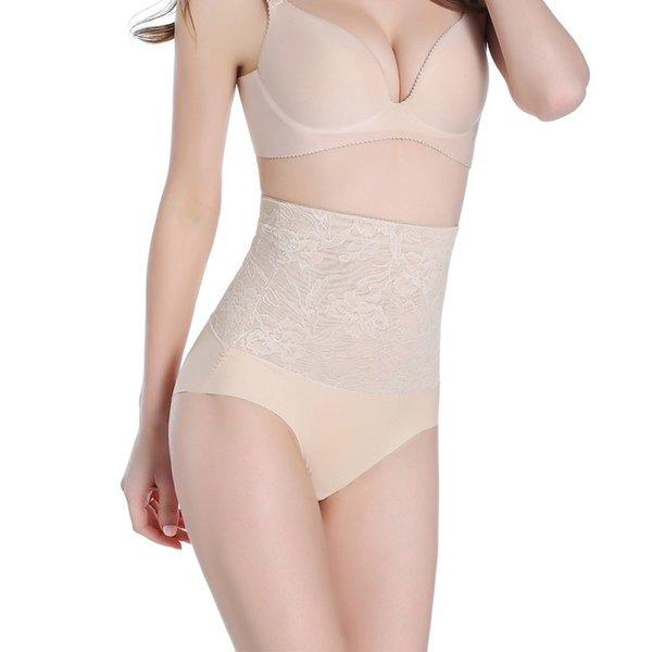 Women Lace Floral Body Shaper Hip Abdomen Tummy Control Panties High Waist Sexy Intimates Briefs Underwear ropa de la talladora