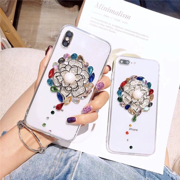For Samsung Galaxy A5 2017 Rhinestone Case For Samsung S6/S7 edge/Note 8/9/S8 S9 Plus+Bling Crystal Handmade Diamond Phone Cover