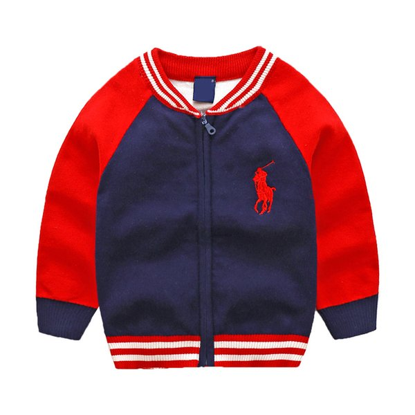 best selling New Children's Top Clothes Cotton Baby Sweater High Quality Kids Outerwear Girl Sweater Boy Sweater V-neck Sweaters coat
