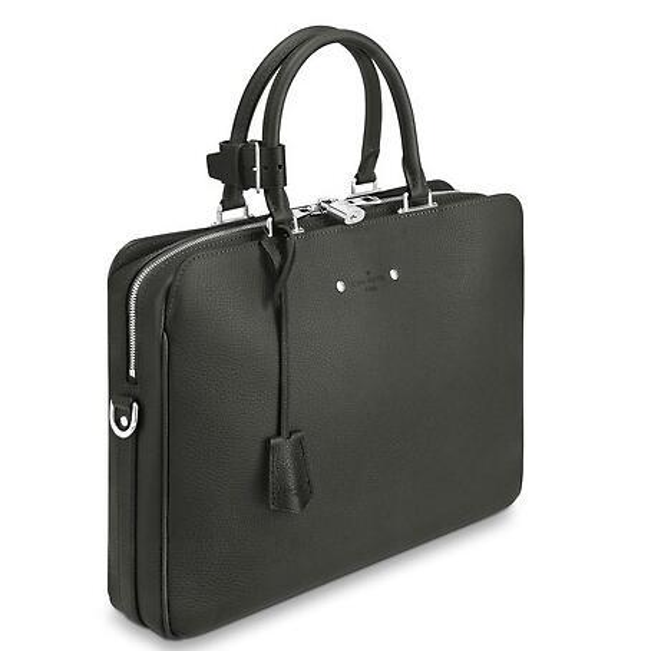 2019 M52702 ARMAND BRIEFCASE MEN GREY Echtes Caviar Lammfell Le Boy Chain Flap Bag HANDTASCHEN SCHULTER MESSENGER BAGS TOTES