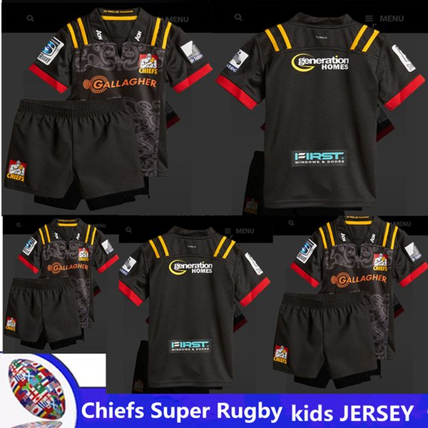 2018 Chiefs Super Rugby kids JERSEY new Zealand super Chiefs Blues Hurricanes Crusaders Highlanders shirts size -20-22-24-26-28