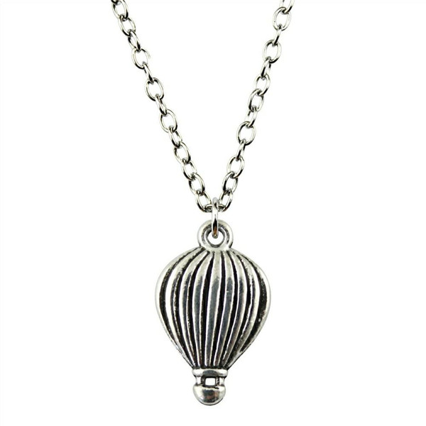 WYSIWYG 5 Pieces Metal Chain Necklaces Pendants Vintage Necklace Handmade Hot Air Balloon 21x13mm N2-B11268
