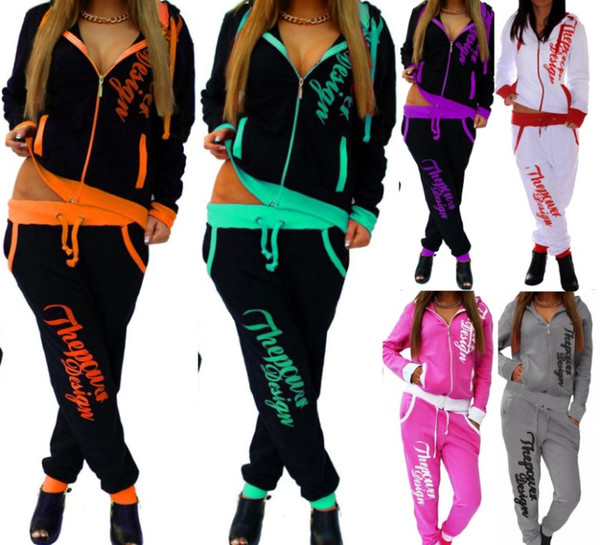 Women designer jacket legging outfits 2 piece set outerwear tights sport suit long sleeve stand collar cardigan pants tracksuit hot j1