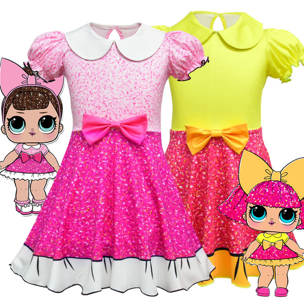 3 Style Girl cartoon doll dress children's lotus leaf princess dress Halloween performance clothes children's cosplay clothes H115