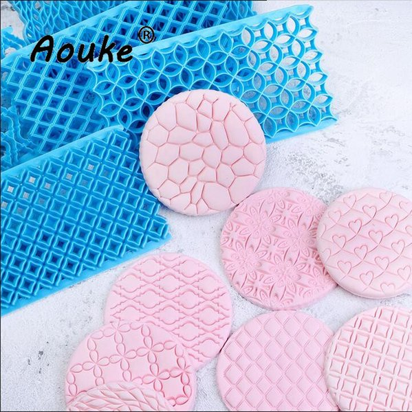Flower Petal Plastic Embosser Mold ,Biscuits Cake Cookies Cutter ,Printed Lace Impression Fondant Sugar Cake Decorating Tools