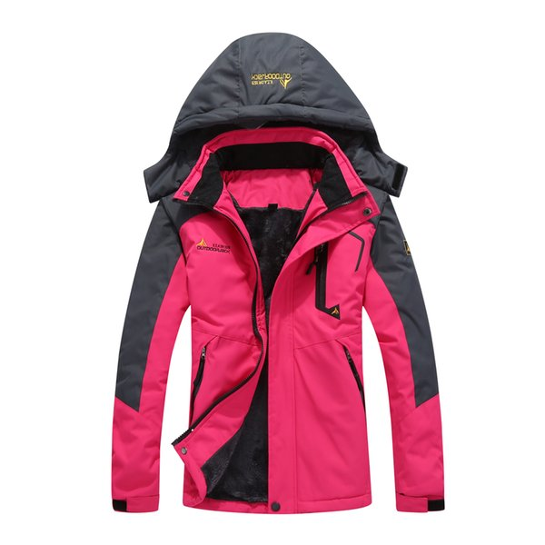 Women Mountain Waterproof Ski Jacket Windproof Rain Winter Inner Fleece Waterproof Jacket Coat Skiing Femal Male Jackets