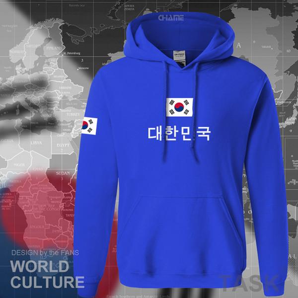 Großhandel Südkorea Hoodies Männer Sweatshirt Schweiß Neue Streetwear Kleidung 2017 Trikots Fußballer Trainingsanzug Nation Koreanische Flagge Fleece