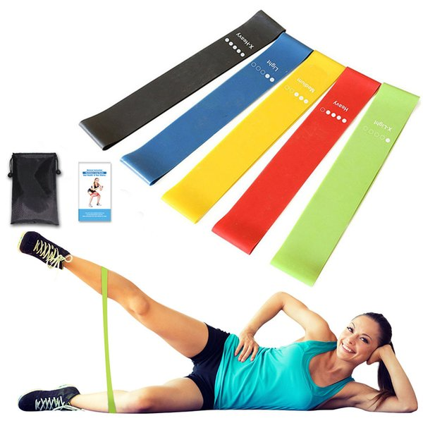 5 pcs Gum for Fitness Elastic Band Resistance Bands Strength Training Workout Expander Muscle Mini Bands Gym Fitness Equipment