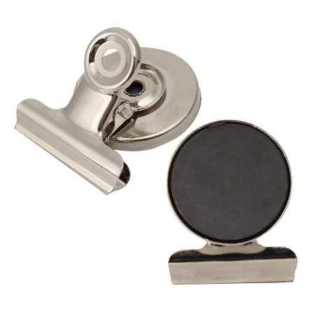 5 adet / grup 3 cm Yuvarlak Şekil Metal Dolabı Magnet Klip Gümüş Ton Manyetik Buzdolabı Duvar Memo Not Mesaj Tutucu