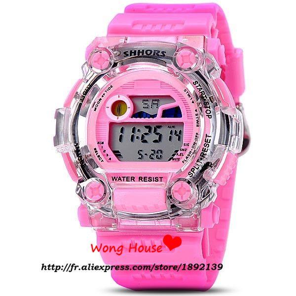 2016 Venta Directa Nueva Llegada de Aleación de Plástico Relojes Shhors 30 m Banda Impermeable de Cuarzo Reloj Deportivo Reloj Reloj 750