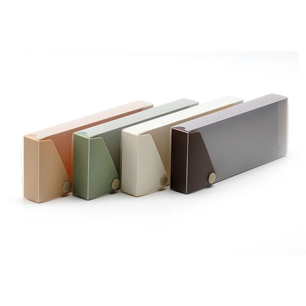 Creative pen-case transparent pen-case stationery collection by buckle extraction storage box office function