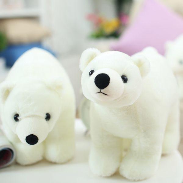 2018 lovely soft cuddly animal polar bear plush doll stuffed nice white bear toy for kids gift decoration 45cm x 27cm