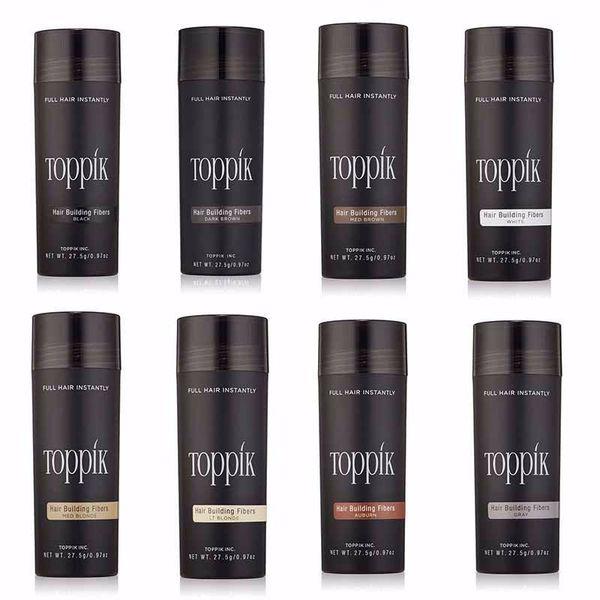 top popular toppik hair building fibers 27.5g Toppik Hair Fiber Thinning Concealer Instant Keratin Hair Powder Black Spray Applicator 2019