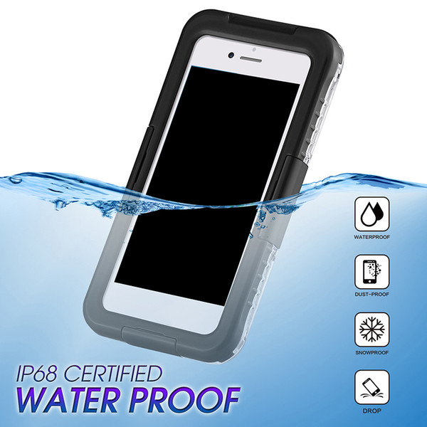 New Arrival IP68 Waterproof Shockproof Dust proof Mobile Phone Case for Samsung Galaxy S8 S8 Plus S9 S9plus iPhone 8 7 6 plus Hot Sale