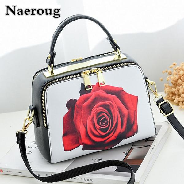 Printing Cartoon Women Shoulder Bag Rose Perfume Lipstick Pattern Handbag Retro Lady Totes Crossbody Bags Famous Luxury Designer