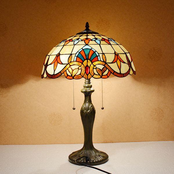 Acheter Baroque Américain Salon Grande Lampe De Table En Verre Haute  Qualité Luxe Chambre Chevet Européen Lampe De Table Décorative De $61.81 Du  ...
