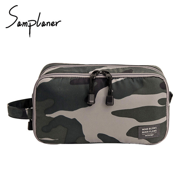 Samplaner Zipper Men Wash Bags For Travel Women Cosmetic Bags Ladies Make-up Toiletry Kits Pouch Cosmetics Case Organizer