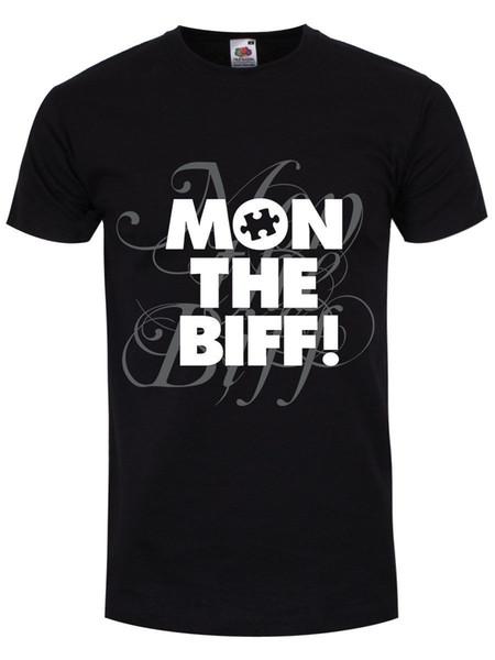 Novo Mon The Biff Mens Preto T-Shirt de Verão de Manga Curta Camisas Tops S ~ 3Xl Tamanho Grande Algodão Tees Frete Grátis