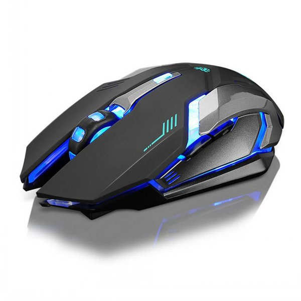 top popular Rechargeable X7 Wireless Gamer mouse 7 Colors LED Backlight 2.4GHz USB Optical Ergonomic Gaming Mouse For PC Laptop 2019