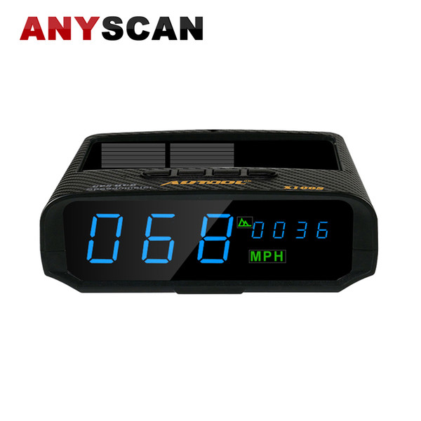 AUTOOL X100S GPS Car Solar Digital Meter GPS HUD KM/H MPH Speedometer Overspeed Alarm Altitude Driving Computer Display