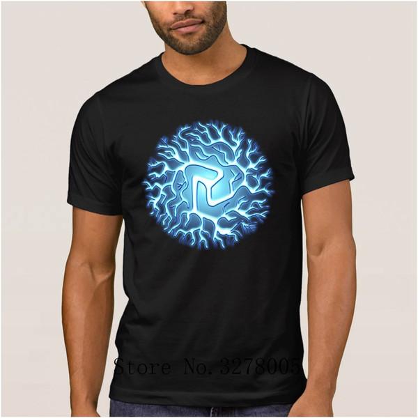 La Maxpa Lightning Ball Chi Reiki Chakra Arc Reactor T Shirts Humorous Men's T-Shirt Anti-Wrinkle Cotton Simple Male Tee Shirt