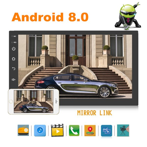 Android 8.0 1080P +16G Car Stereo Radio GPS Wifi FM Mirror Link OBD MP5 Player