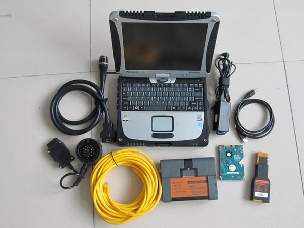 nouveauté pour les outils de diagnostic bmw pour bmw icom a2 bc avec 500Go de disque dur ista avec ordinateur portable cf 19 écran tactile