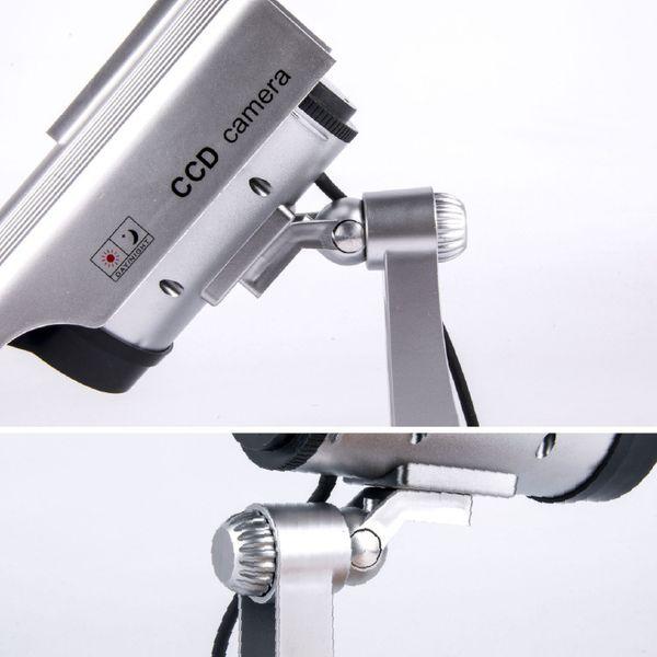 Солнечная энергия поддельные камеры Моделирование Поддельные Камеры Поддельные Солнечной Энергии Водонепроницаемый Открытый Крытый Камеры Видеонаблюдения Пуля Мигает