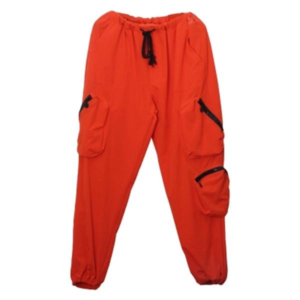 Joggers Harem Orange Pants Men Cargo Ankle Length Man Pant Pantalon Hombre Hippie Streetwear Korean Style Men Fashions Clothes