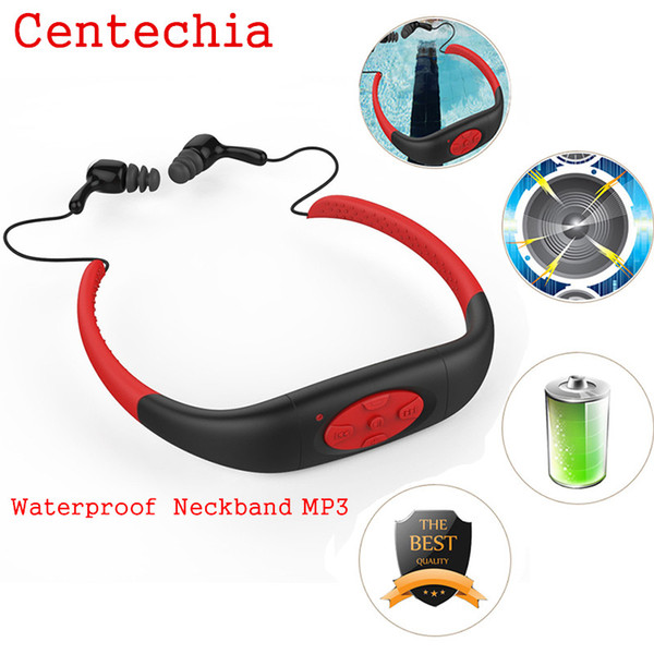 Portable Waterproof MP3 IPX8 Music Player Underwater Sports Neckband Swimming Diving with FM Radio Earphone Stereo Headphone mp3