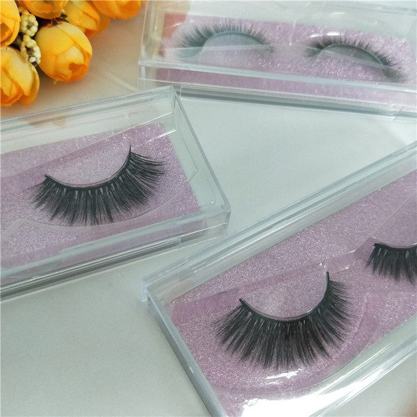 Seashine factory free shipping private label 3D makeup false mink strip eyelashes with custom eyelash box packaging