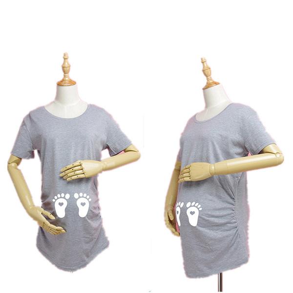 972fe1f9d Al por mayor-Maternidad Embarazada Camisetas Shorts Embarazo Casual Ropa  Para Mujeres Embarazadas Ropa Gravida
