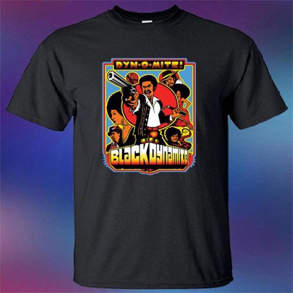 Nuevo Negro Dinamita Famosa serie de TV de dibujos animados Camiseta negra  para hombre Talla S 8f474d6d6a784
