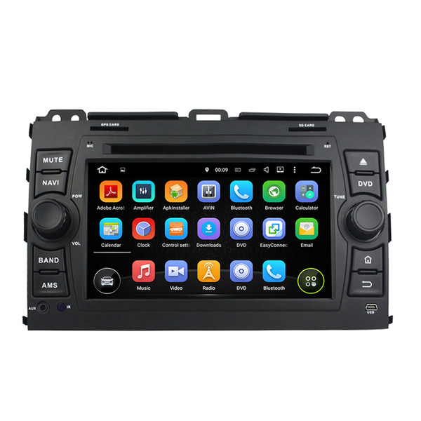 7inch Andriod 8.0 Car DVD player for Toyota PRADO 2006-2010 with GPS,Steering Wheel Control,Bluetooth,Radio