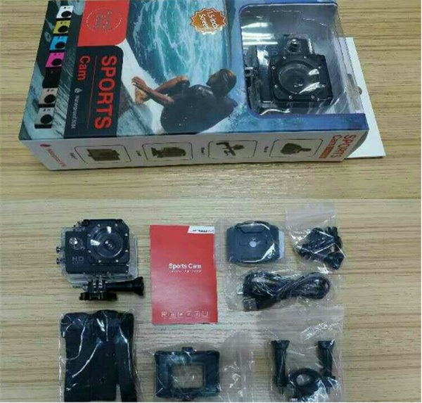best selling DHL- 2018 new SJ4000 freestyle 2inch LCD 1080P Full action camera 30 meters waterproof DV camera sports helmet SJcam DV