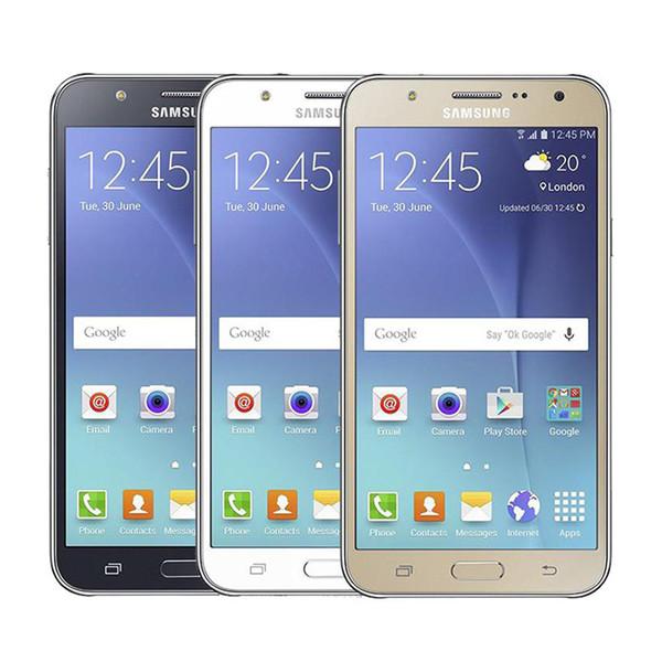 Überholter Samsung Galaxy J7 J700F 1.5G / 16G 5.5inch Octa-Kern echter 4G LTE Doppel-Sim Andorid WIFI GPS Bluetooth entriegeltes Smartphone
