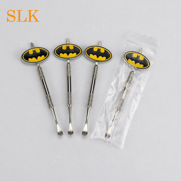 Newest design stickers Batman,Captain,Superhero,Flash and Skull Wax dab tool free select wax vaporizer dabber for dab tools storage jar