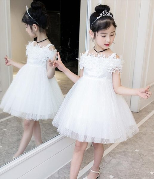 863c5ff31 White/Pink/Purple/Blue Flower Girl Dress Lace Tulle Princess Birthday Party  Pageant