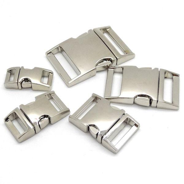best selling 10pcs lot Side Release Curved Metal Buckle for Bag DIY Paracord Buckles For Bracelet