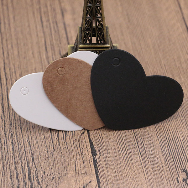 500PCS/LOT Paper labels white round small label with Blank logo tag for bookmarks chocolate packaging card wholesale gift tags