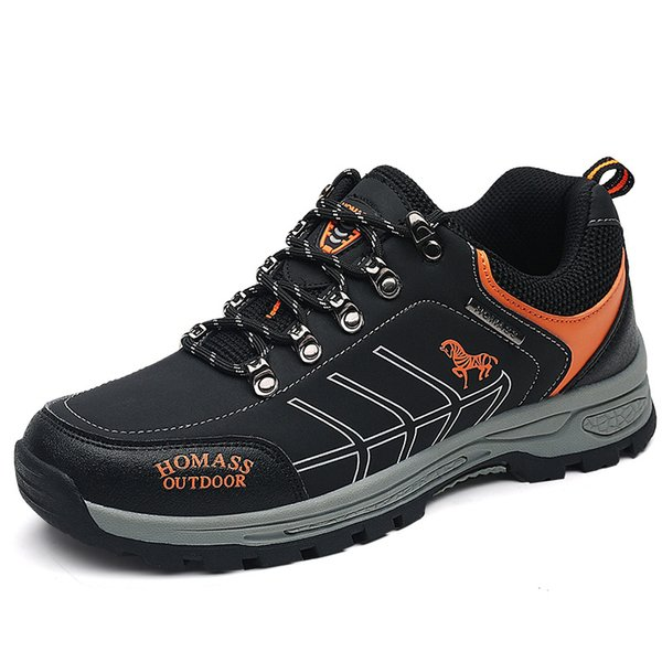 Outdoor Men Hiking Shoes Waterproof Breathable Anti-skid Summer Hiking Sneakers Trekking Tourism Mountain Climbing Sports Shoes
