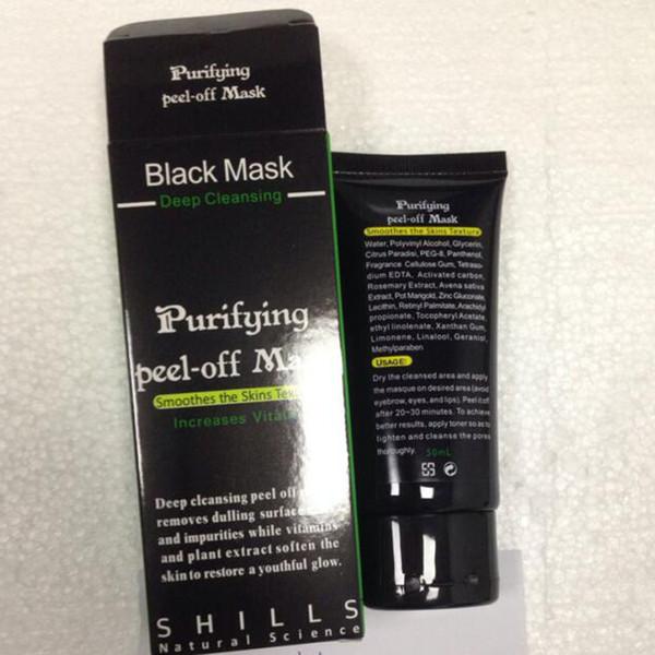 top popular 2020 High Quality Shills Peel-off face Masks Deep Cleansing Black MASK 50ML Blackhead Facial free shipping 2021