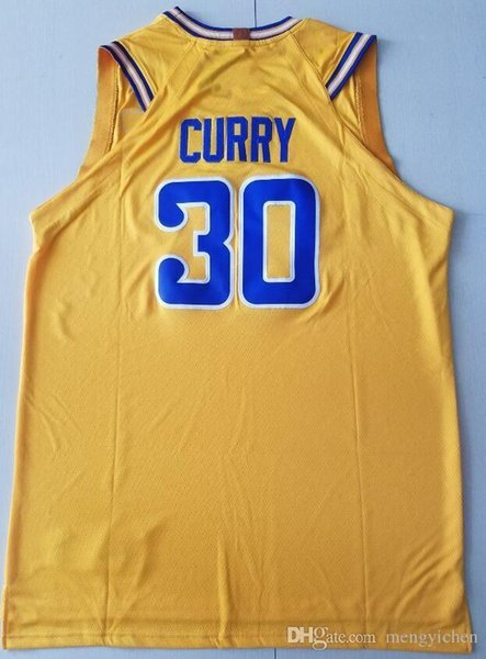 new style b645a ca556 2018 2019 New City Edition Navy Blue 30 Stephen Curry Jersey Yellow Black  White Basketball 35 Kevin Durant Jerseys Stitched 11 Klay Thompson From ...