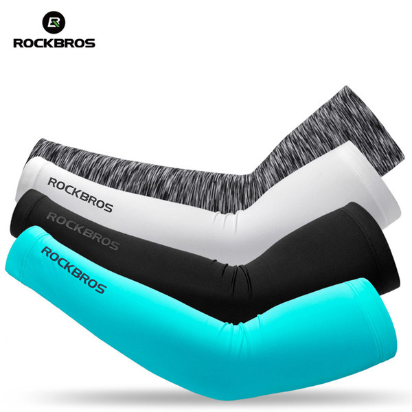 ROCKBROS Ice Fabric Runnling Camping Arm Warmers Basketball Sleeve Running Arm Sleeve Cycling Sleeves Summer Sports Safety Gear