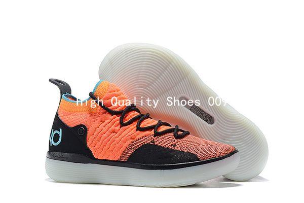 2018 Yeni Varış KD XI 11 EP Oreo Siyah Turuncu Basketbol Ayakkabı Yüksek Kalite Mens Kevin Durant 11 s Eğitmenler Spor Sneakers Boyutu 40-46