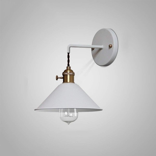 2019 Country Wall Lamp Metal Pressure Cast Iron Wall Sconce Knob Switch Spray Paint Matte Finish Color White From Tyjyg123 74 18 Dhgate Com