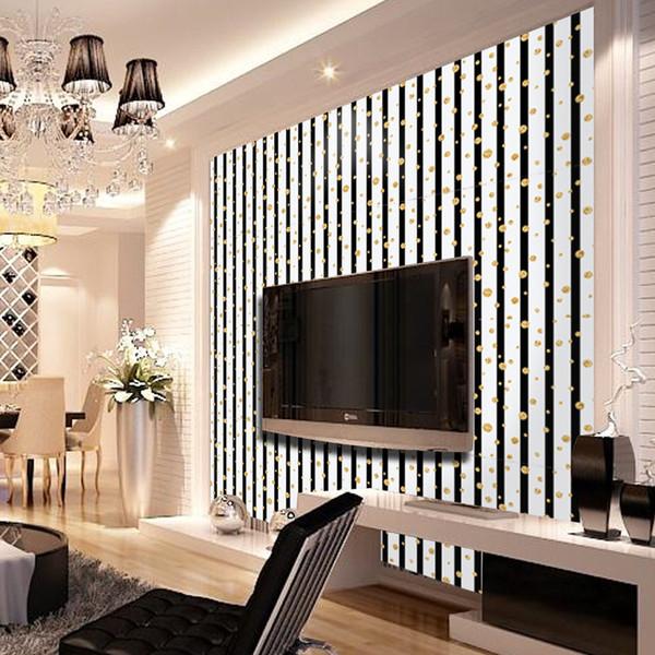 Großhandel 3D Mode Luxus Goldenen Kreis Vertikale Streifen Tapete  Wohnzimmer Hintergrund Wand Dekor Kunst Tapeten SA 1108 Von Sheiler, $26.99  Auf ...